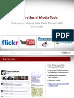 Vorlesung an Der BAW Zum Thema Social Media Tools