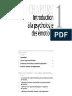 Introduction Psychologie Des Emotions