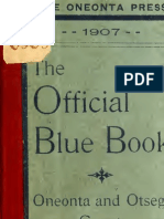 Official Blue Book Oneonta & Otsego County 1908