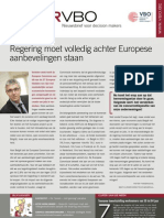 Regering moet volledig achter Europese aanbevelingen staan, Infor VBO 19, 7 juni 2012