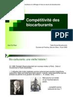 compétitivité des biocarburants