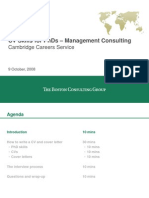 Boston Consulting CV Tips