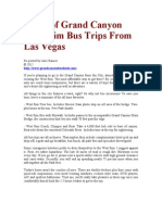 Types of Grand Canyon West Rim Bus Trips From Las Vegas