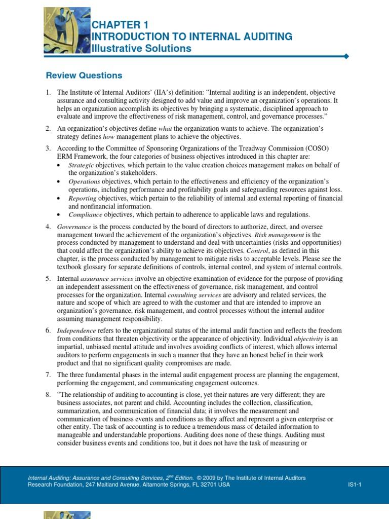 Chapter 1 illustrative solutions internal audit audit fandeluxe Gallery