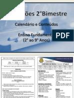 Conteudos 2° ao 9° II bimestre 2012