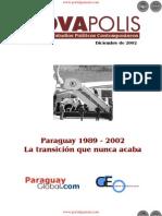 Paraguay 1989.2002 - La Transición que nunca acaba -  Edición No.1 Diciembre de 2002 - NovaPolis - REVISTA DE ESTUDIOS POLÍTICOS CONTEMPORÁNEOS - Paraguay - PortalGuarani