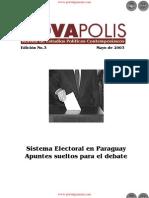 Sistema Electoral en Paraguay - Edición No.3 Mayo de 2003 - NovaPolis - REVISTA DE ESTUDIOS POLÍTICOS CONTEMPORÁNEOS - Paraguay - PortalGuarani