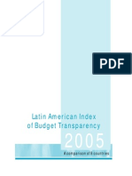 Latin American Index of Budget Transparency 2005