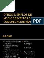 Otros Medios Masivos de Comunicación