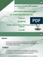 Facilitation du commerce dans le context Nigérien