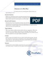 Elements of a Web Plan