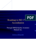 Roadmap to ISO 17025 Accreditation