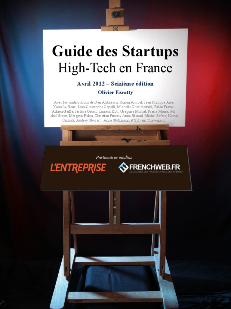 Guide Des Startups Hightech en France Olivier Ezratty