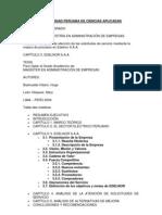 Universidad Peruana de Ciencias Aplicadas - Organigrama de Delnor