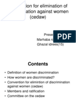 Convention for Elimination of Discrimination Against Women
