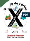 Documento Orientador Campo de Férias CBA 2012