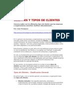 CLIENTES Y TIPOS DE CLIENTES