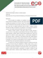 Plan de trabajo para la Secretaría de relaciones públicas del cge Jaime Géliga