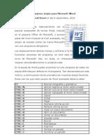 64119571 Los Mejores Atajos Para Microsoft Word 2010