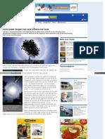 Chemtrails - Cirrus-Wolken - Sonne bildet riesigen Halo über chinesischer Stadt