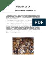 Historia de La Independencia de Mexico