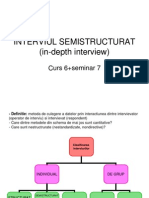 INTERVIUL SEMISTRUCTURAT