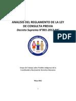 Informe Técnico del Reglamento de la Ley de Consulta Previa