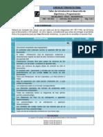 Checklist Carpeta y Proyecto Final