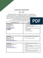 Job Posting June 4 2012