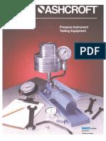 Pressure Instrument Testing Equipment