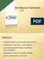 Norma de Informacion Financiera a-4