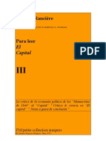 Para Leer El Capital III Jacques Ranciere