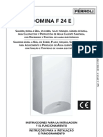 Manual Caldera Ferroli Dominaf24e