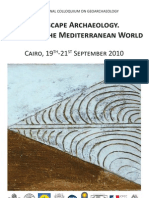 57907417 Landscape Archaeology Egypt and the Mediterranean World Cairo INTERNATIONAL COLLOQUIUM on GEOARCHAEOLOGY 19th 21th September 2010