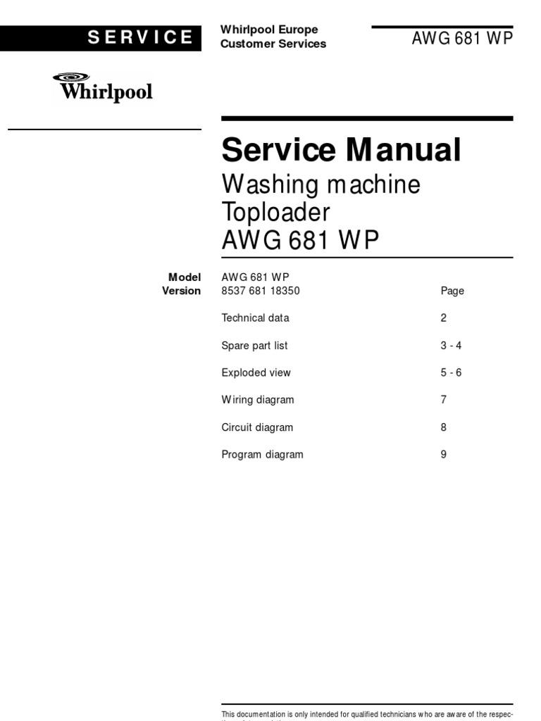 Инструкция стиральная машина whirlpool awg wp