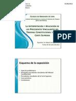 La aplicación de los precedentes vinculantes en la Nueva Ley Procesal del Trabajo - Conferencia Diplomado Corte Superior Lima Norte