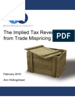 The Implied Tax Revenue Loss from Trade Mispricing