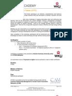CTTT Program Outline v1.0 (WKU)