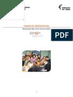 Rencontre juin 2012 - Cahier de Participation Web