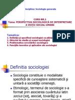 1. Obiectul de Studiu Al Sociologiei