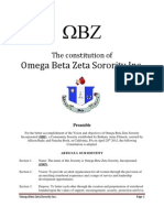 The Constitution of Omega Beta Zeta PDF