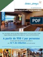 VENTE FLASH hôtel Angsana Balaclava à l'ile Maurice
