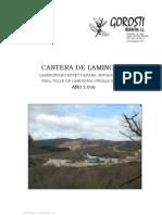 Seguimiento de explotación de cantera de Laminoria por Gorosti Neurketak 2010