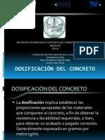 Dosificación del concreto