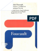 Michel Foucault Discurso y Verdad en La Antigua Grecia