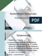 Epistemología Gnoseología