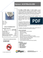 ACS750xCA-050 - Sensor de Corrente