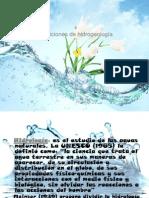 Definiciones hidrogeologia