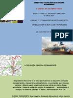 4.7 Seleccion de Rutas de Transporte.