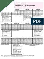 Academic Calendar 2068 - BE